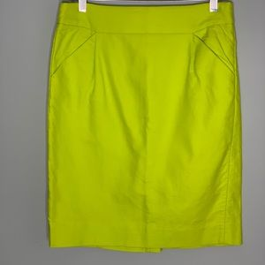J.Crew The Pencil Yellow Skirt Size 6